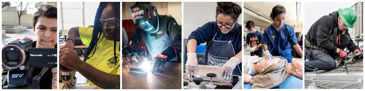 Various students participating in CTE courses