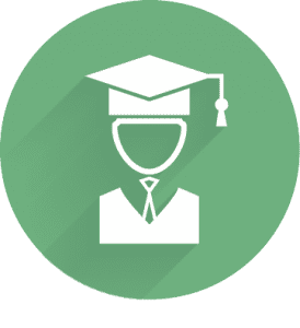 Icon of student in a graduation cap